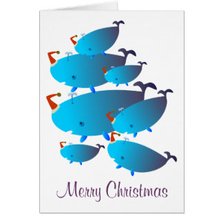 Christmas greeting cards: Whales
