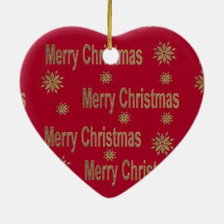 Christmas greeting ceramic heart decoration
