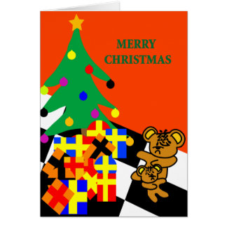 CHRISTMAS GREETING CI & BEI BEAR CARD