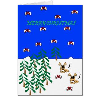 Christmas greeting En & Qing dog Card
