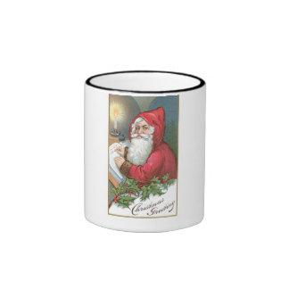 Christmas Greeting - Vintage Santa Mug