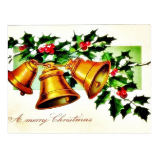 Christmas greeting with an angel in the mirror post cards