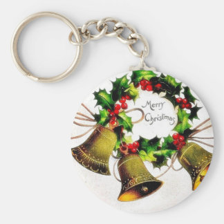 Christmas greeting with bells keychains