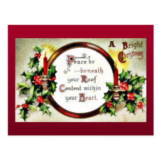 Christmas greeting with wishes written in a mirror postcard