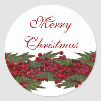 Christmas greeting wreath seals PERSONALIZE Sticker