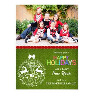 Christmas Greetings 14 Cm X 19 Cm Invitation Card