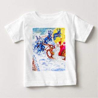 Christmas Greetings Art Baby T-Shirt