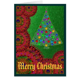 Christmas Greetings Blank Inside Greeting Card