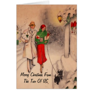 Christmas greetings card  from the two of us