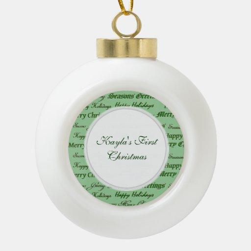 Christmas Greetings. Ornaments