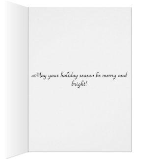 Christmas greetings holiday card