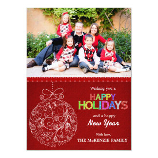 Christmas Greetings 5.5x7.5 Paper Invitation Card