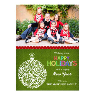 Christmas Greetings Personalized Announcement