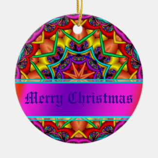 Christmas Greetings Personalised Gift Double-Sided Ceramic Round Christmas Ornament