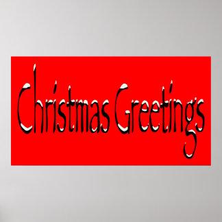 Christmas Greetings Poster. Poster