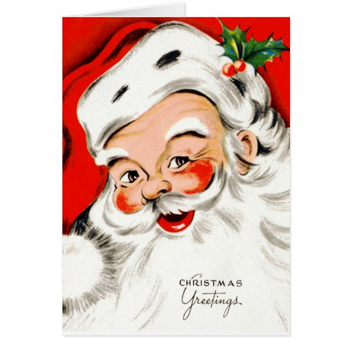 Christmas Greetings Santa Cards