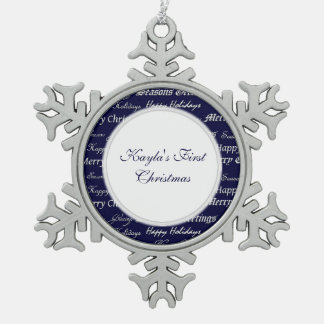 Christmas Greetings Silver Ornament