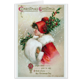 """Christmas Greetings"" Vintage Card"