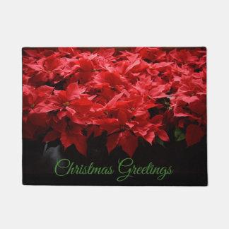 Christmas Greetings Welcome Mat