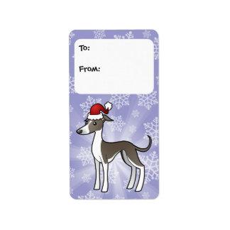 Christmas Greyhound / Whippet / Iggy Gift Tags