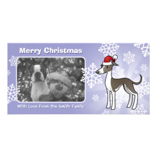 Christmas Greyhound / Whippet / Italian Greyhound Picture Card