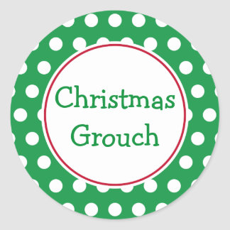 Christmas Grouch Stickers