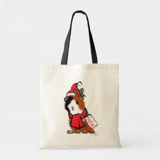 Christmas Guinea Pig Greeting Tote Bag