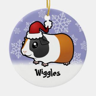 Christmas Guinea Pig (smooth hair) (add name) Ceramic Ornament