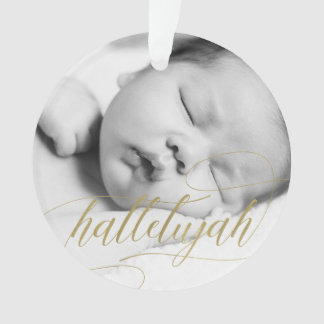 Christmas Hallelujah | Faux Gold with Photo Ornament