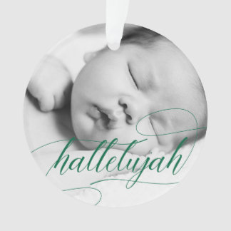 Christmas Hallelujah | Holiday Green with Photo Ornament