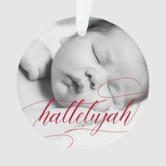 Christmas Hallelujah | Holiday Red with Photo Ornament