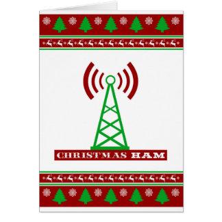 "Christmas HAM Radio ""Ugly Sweater"" card"