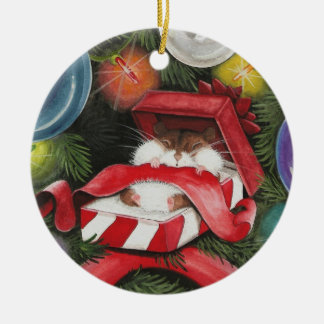 Christmas Hamster - Hammie Holiday Ceramic Ornament