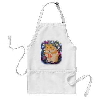 Christmas Hamster holding a gift Standard Apron