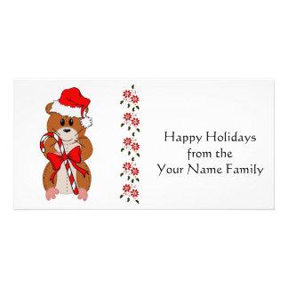 Christmas Hamster Custom Photo Card