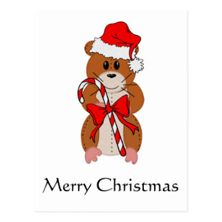 Christmas Hamster Postcard