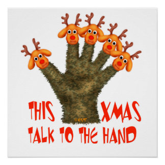 CHRISTMAS HAND Perfect Poster Glossy Finish