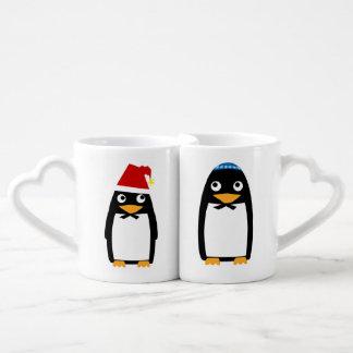Christmas Hanukkah Jewish Penguin Yamulke Coffee Mug Set