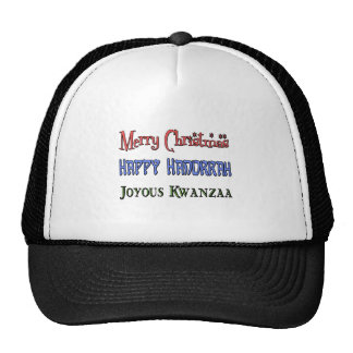 Christmas - Hanukkah - Kwanzaa Cap