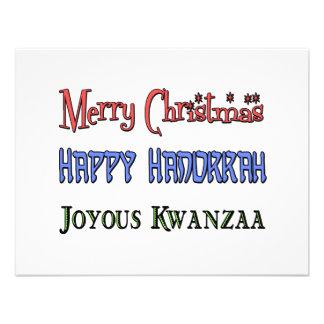 Christmas - Hanukkah - Kwanzaa Invitations