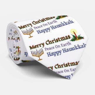 Christmas Hanukkah Tie