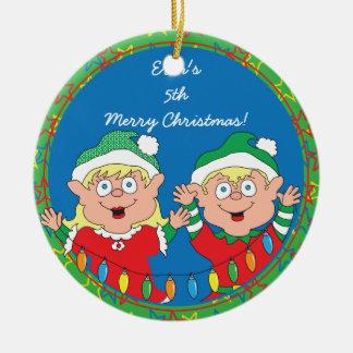 "Christmas ""Happy Elves"" Ornament"