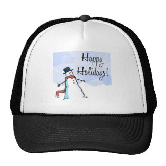 CHRISTMAS HAPPY HOLIDAY APPARREL HAT