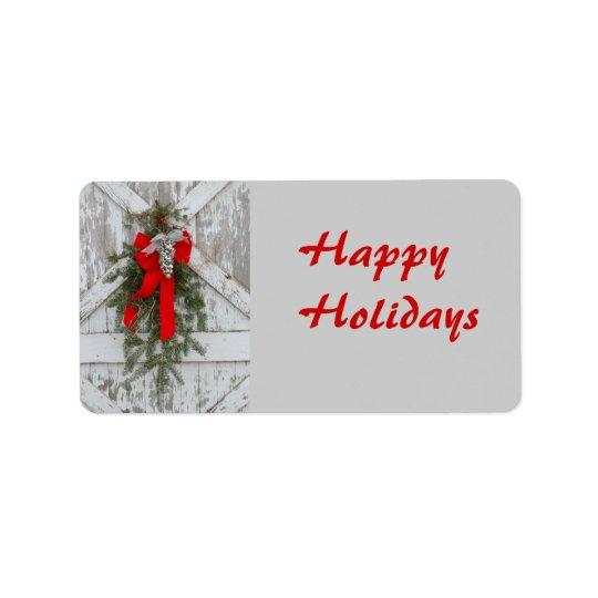 Christmas/Happy Holidays Address Label