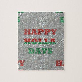 christmas happy holla days jigsaw puzzles