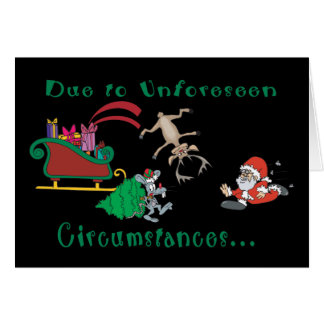 Christmas Has Been Canceled Funny Christmas Greeting Card