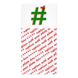 #Christmas #HASHTAG - Hash Tag Symbol Picture Card