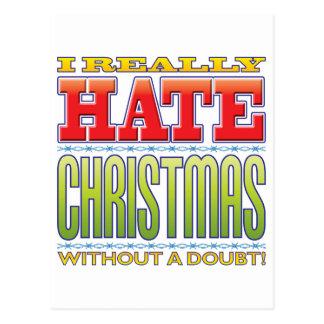 Christmas Hate Postcard