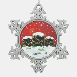 Christmas Headstones Snowflake Pewter Christmas Ornament