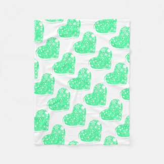 Christmas Heart Background Fleece Blanket
